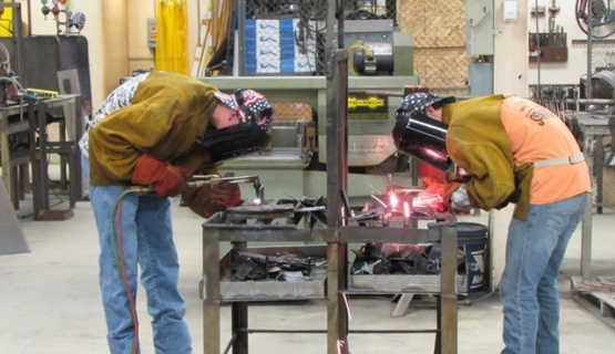 Two welders at work.