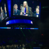 The stage at the DECA awards ceremony