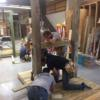Junior Construction students work on the benches.: Gallery Image 3