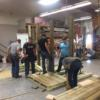 Junior Construction students work on the benches.: Gallery Image 2