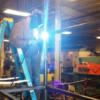 Welding the playset in the welding lab, Dennings Bldg., St. Marys: Gallery Image 1
