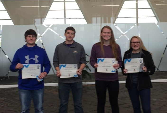 Pictured with their certificate are, left to right:  Cory Sullivan, Clark Knapke, Abigail Sniegowski and Nicole This: Featured Image 1