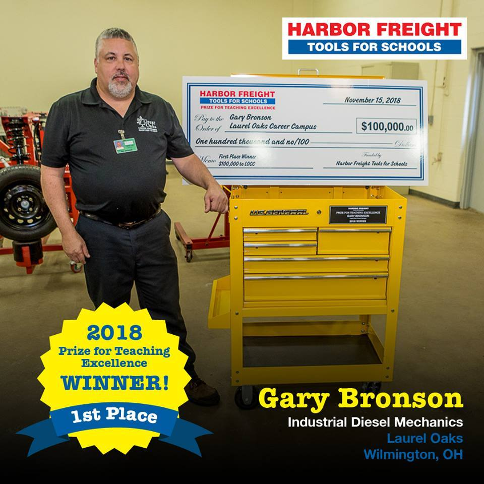 Tri Star Grad Gary Bronson Wins Harbor Freight's Freight Tools for Schools Prize for Teaching Excellence: Featured Image 1