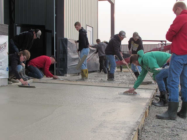 Junior Construction Students Lay Concrete at The New Animal Barn: Featured Image 1