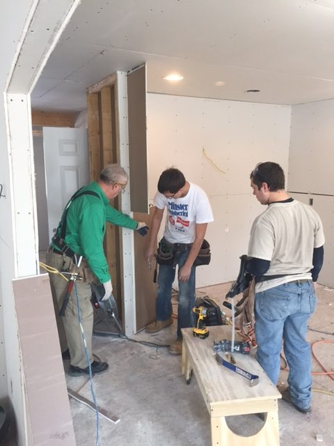 Construction Students Tackle Drywall: Featured Image 1