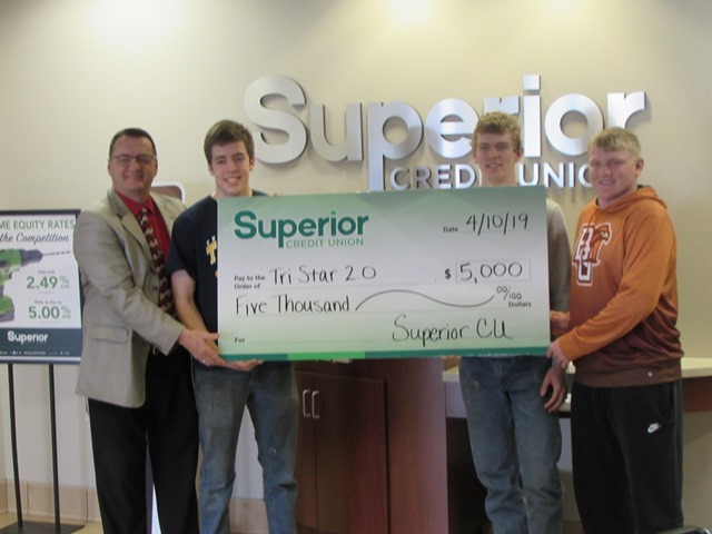 Superior Credit Union Makes Donation to Tri Star 2.0: Featured Image 1