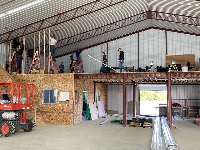 Junior Construction Class Helping in the Animal Barn Again: Featured Image 1