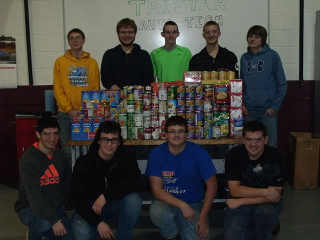 Auto Students Hold Canned Food Drive: Featured Image 1