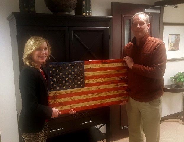 Wooden Flag Presented to Thomas P. Pappas and Associates: Featured Image 1