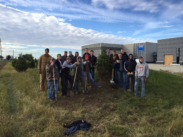 Precision Machining Students Help Plant Trees: Featured Image 1